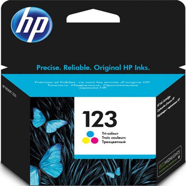 کارتریج جوهرافشان اچ پی 123 رنگی اورجینال HP 123 Tri-color Original Ink Cartridge