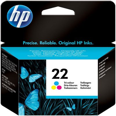 کارتریج جوهرافشان اچ پی 22 رنگی طرح HP 22 color Ink Cartridge