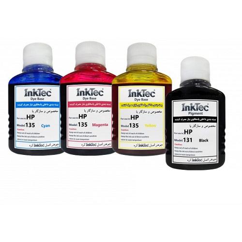 جوهر 100 میل اینکتک داخلی 131,135 سری کامل اچ پی Inktec 100ml ink HP 135,131 |