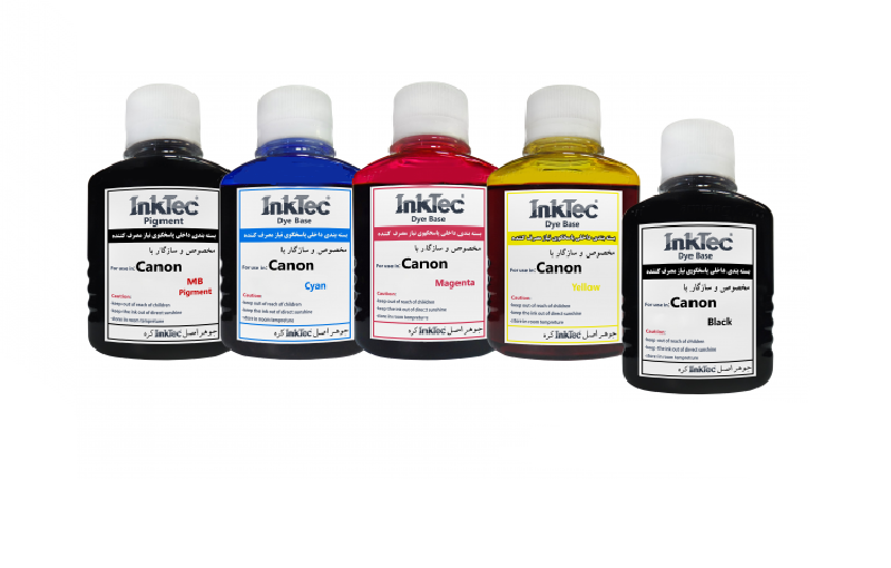 ست جوهر 100ml اینکتک داخلی کانن InkTec 100ml set color Canon