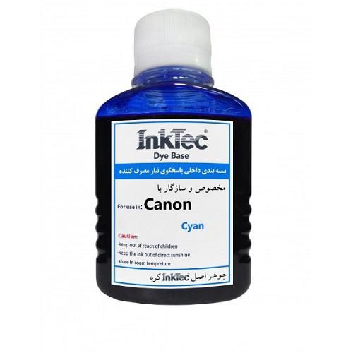 جوهر 100ml اینکتک داخلی آبی پرینتر کانن InkTec 100ml cyan Canon
