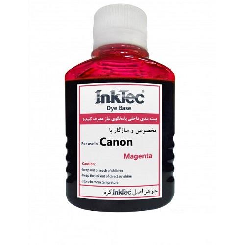 جوهر 100ml اینکتک داخلی قرمز پرینتر کانن InkTec 100ml magenta Canon