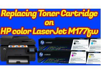 نحوه تعویض کارتریج پرینتر رنگی M177fw اچ پی
