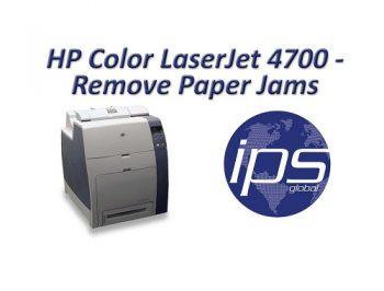 ویدیو حل مشکل گیر کردن کاغذ در پرینتر 4700 اچ پی
