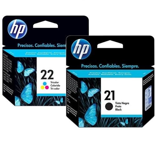 کارتریج جوهرافشان 21-22 اچ پی رنگی و مشکی غیر اورجینال HP 21-22 Ink